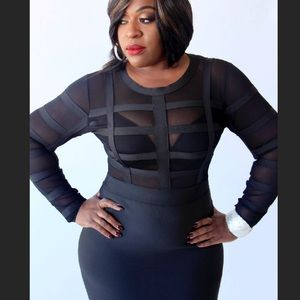 Dresses & Skirts - Black plus size bandage dress